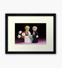 Lego Bride and Groom Framed Print