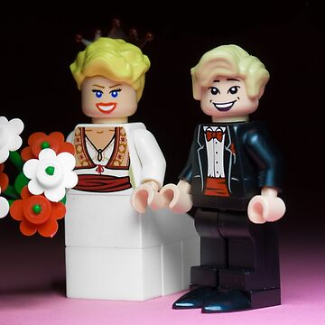 Lego Bride and Groom by SadOldBiker