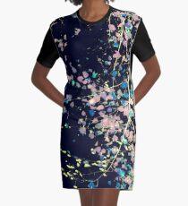 Nature Pattern # 4 - Birch (Blue) Graphic T-Shirt Dress