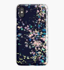 Nature Pattern # 4 - Birch (Blue) iPhone Case