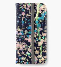 Nature Pattern # 4 - Birch (Blue) iPhone Wallet/Case/Skin