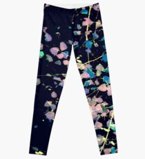 Nature Pattern # 4 - Birch (Blue) Leggings