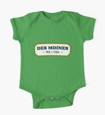 Des Moines   Retro Badge Kids Clothes