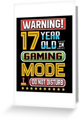 Funny 17th Gamer Birthday 17 Year Old Gaming Gifts By SpecialtyGifts