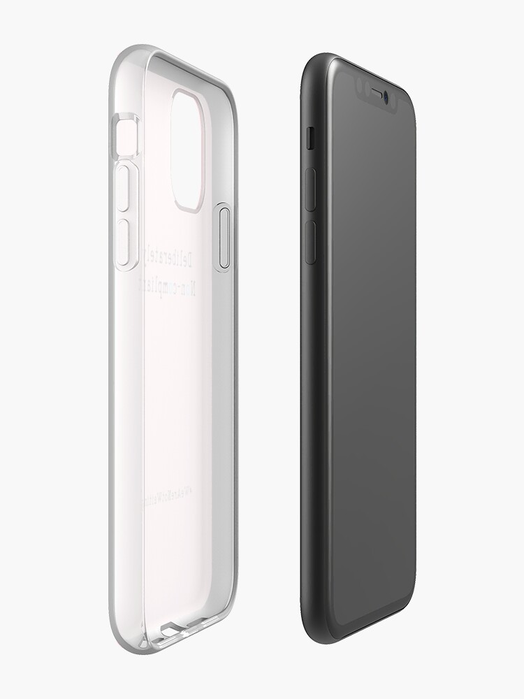 Alternate view of Deliberately non-compliant - pink phone iPhone Case & Cover
