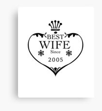 Best Wife Since 2005 12th wedding anniversary gifts  Canvas Print