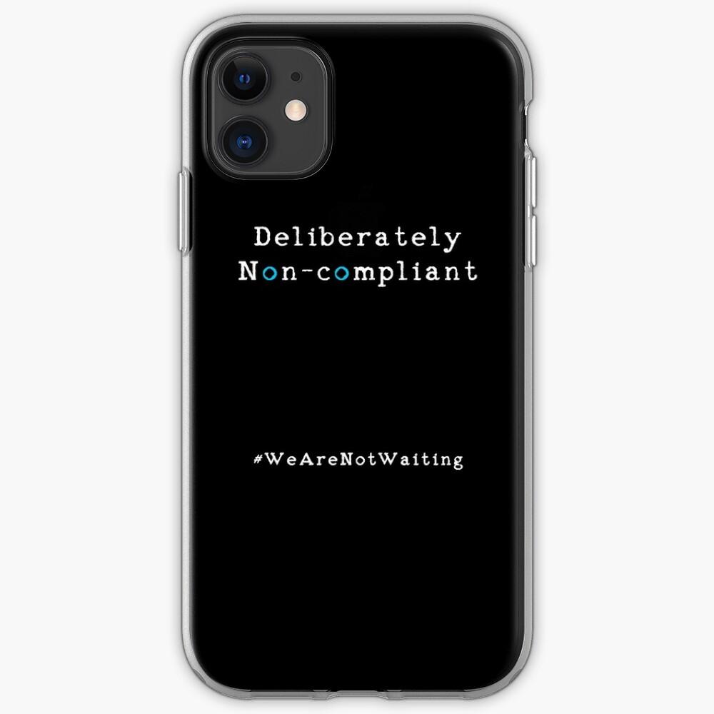 Deliberately non-compliant - black phone iPhone Case & Cover