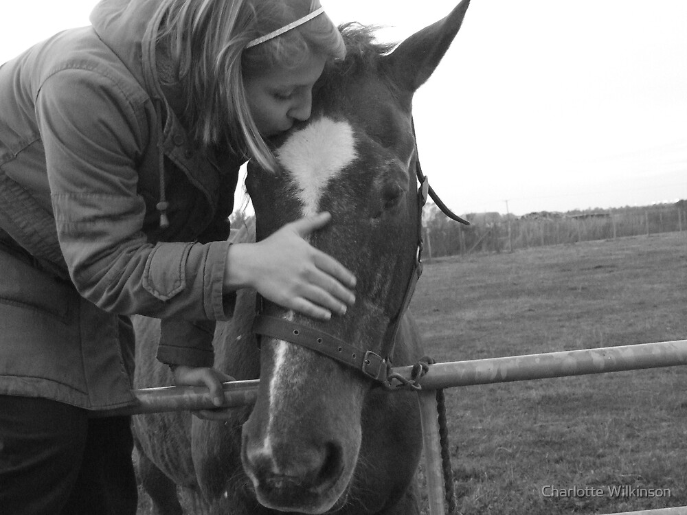 A girl and her horse by Charlotte Wilkinson