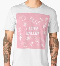 Ballet doodle illustration. I love ballet Men's Premium T-Shirt