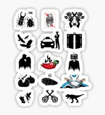 'Famous Bands' Cool Classic Rock Band Gift Sticker