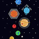 Geometric Solar System by jezkemp