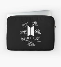 "BTS - Logo + signatures ""black"" Laptop Sleeve"