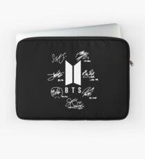 """BTS - Logo + Signaturen """"schwarz"""" Laptoptasche"""