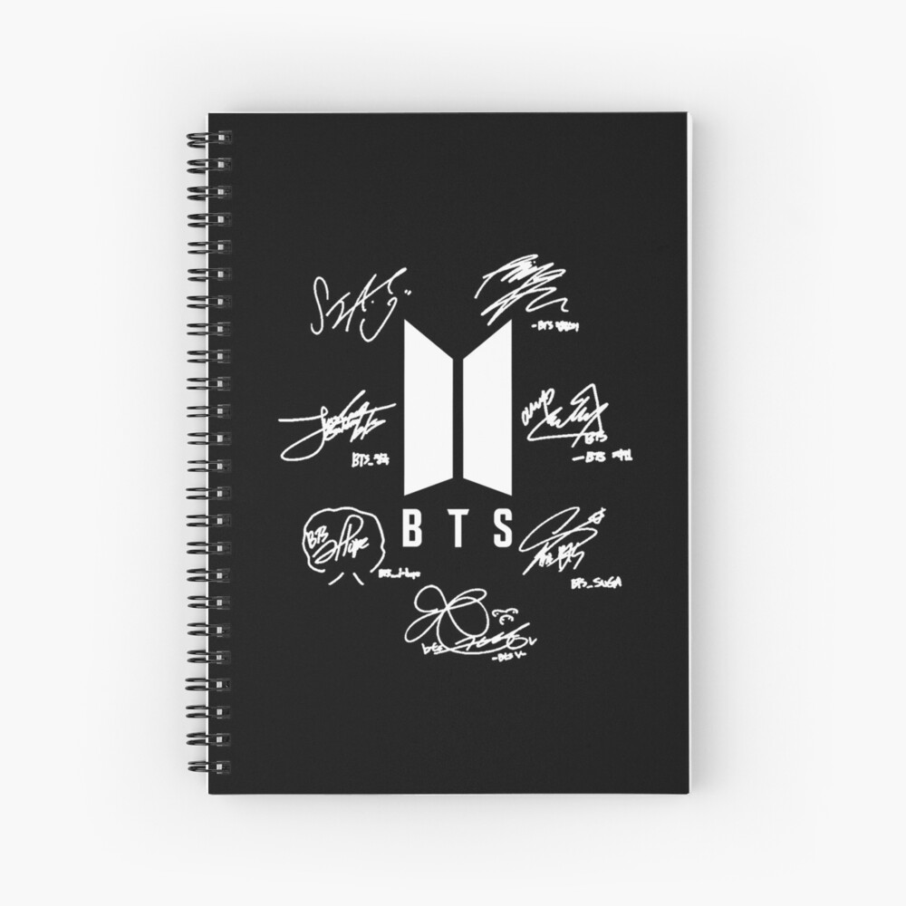 "BTS - Logo + Signaturen ""schwarz"" Spiralblock"