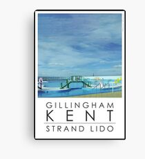 Lido Poster Gilliangham Strand Canvas Print