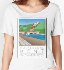 Lido Poster Folkestone Saltwater Women's Relaxed Fit T-Shirt