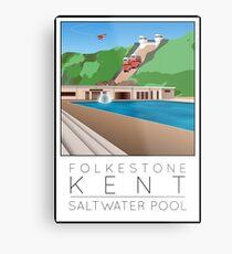 Lido Poster Folkestone Saltwater Metal Print