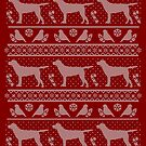 Ugly Christmas sweater dog edition - Labrador retriever red by Camilla Mikaela Häggblom