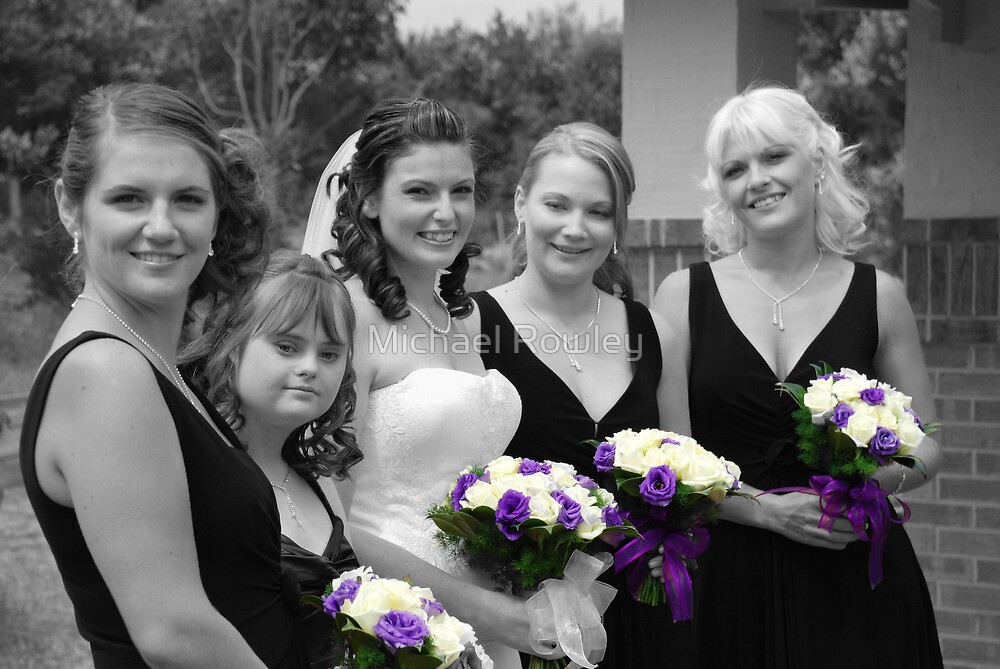 Bridesmaids Selective in Colour by Michael Rowley