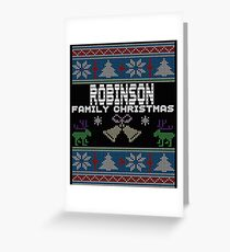 Robinsons Ugly Family Christmas Gift Idea Greeting Card