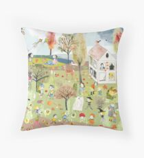Autumn Hidden Object - Autumn Throw Pillow