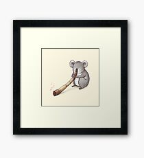 Koala Playing the Didgeridoo Framed Print