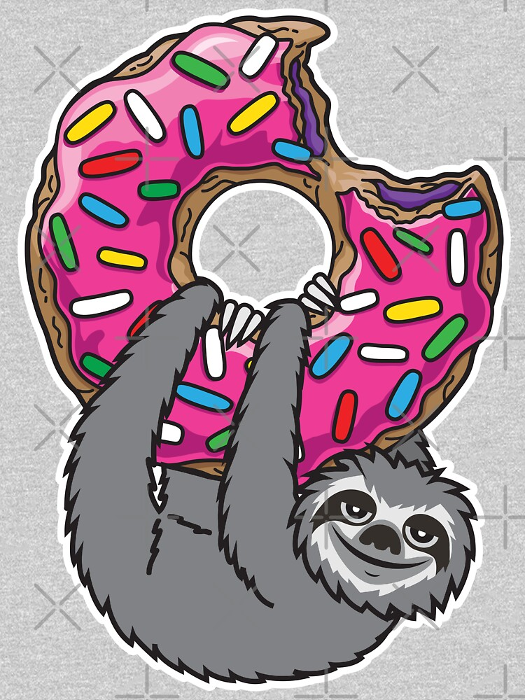 Sloth loves donut by plushism