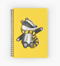 Badger Mascot Spiral Notebook