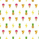 Ice Cream, Pizza, Pineapple, Lightning by jezkemp