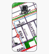 San Francisco map - Haight Ashbury/Cole Valley Case/Skin for Samsung Galaxy