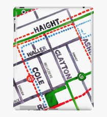 San Francisco map - Haight Ashbury/Cole Valley iPad Case/Skin