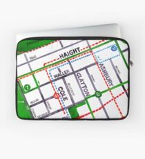 San Francisco map - Haight Ashbury/Cole Valley Laptop Sleeve