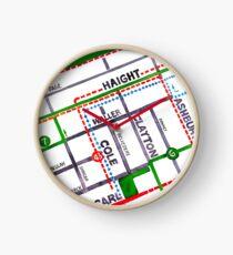 San Francisco map - Haight Ashbury/Cole Valley Clock