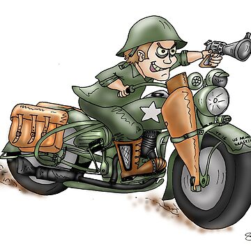 HARLEY STYLE MOTORCYCLE WLA by squigglemonkey