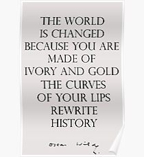 Oscar Wilde - Ivory and Gold Poster