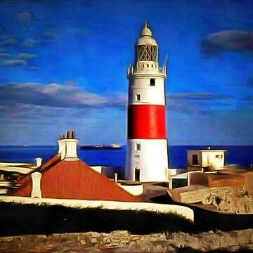 An enhanced photograph of The Lighthouse, Gibraltar by ZipaC