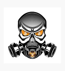 Bitcoin Gas Mask Photographic Print