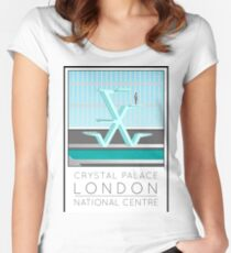 Lido Poster Crystal Palace Women's Fitted Scoop T-Shirt