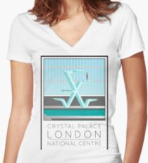Lido Poster Crystal Palace Women's Fitted V-Neck T-Shirt