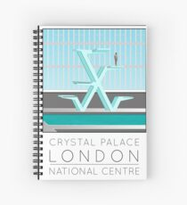 Lido Poster Crystal Palace Spiral Notebook
