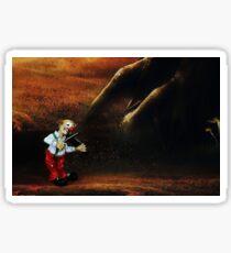 Sad Violinist Clown Sticker