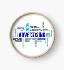 word cloud - advertising Clock
