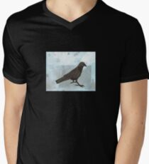 Raven in the Snow Men's V-Neck T-Shirt