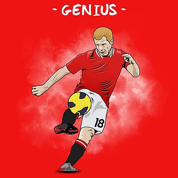 Paul Scholes - Genius - Illustration by theunitedpage