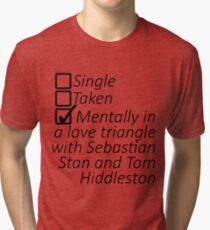 Sebastian Stan and Tom Hiddleston Tri-blend T-Shirt