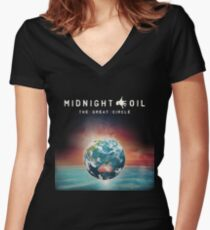 Cold Oil Women's Fitted V-Neck T-Shirt