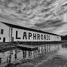 Laphroaig Distillery Black and White by wsglobal
