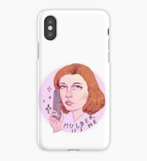 Mulder, it's me iPhone Case/Skin