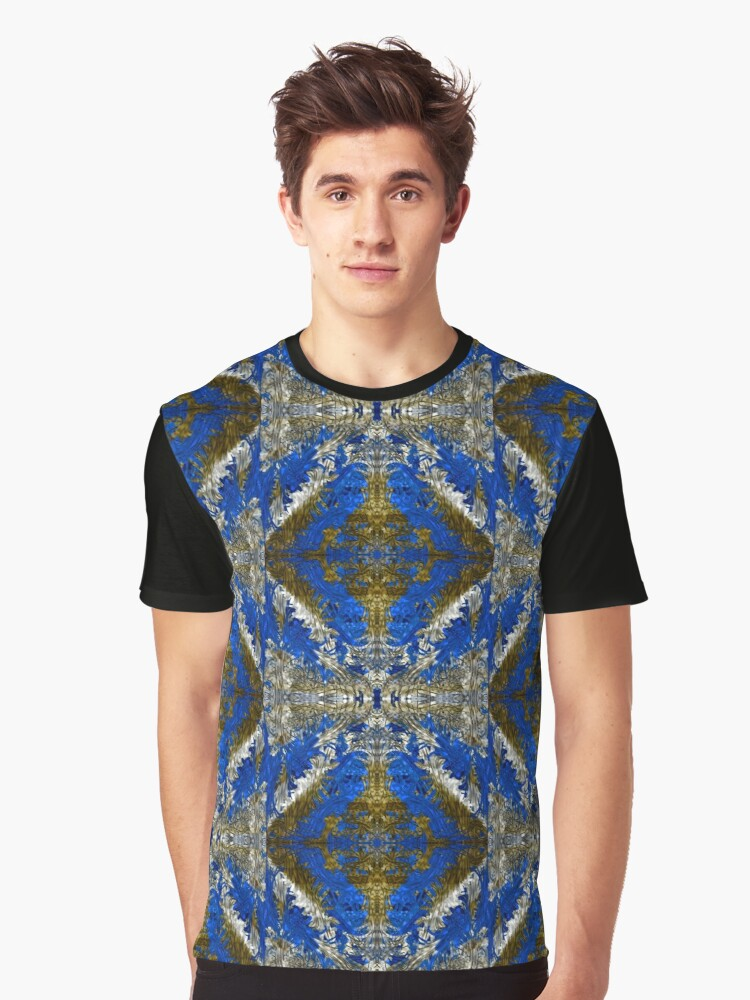 Electric Blue Graphic T-Shirt Front