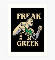 FREAK GREEK Art Print